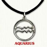 zodiac aquarius pendant