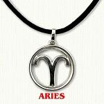zodiac aries pendant