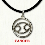 zodiac cancer pendant