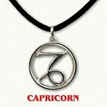 zodiac capricorn pendant