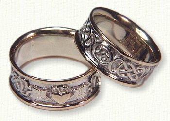 Celtic & Astrology wedding bands