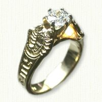Custom zodiac engagement ring - scorpio