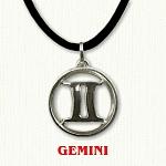 zodiac gemini pendant