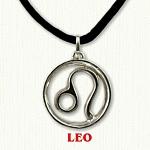 zodiac leo pendant