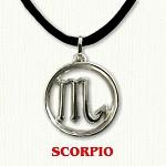 zodiac scorpio pendant