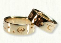 Star, Sun & Moon Wedding Band