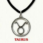 zodiac taurus pendant